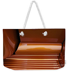 Caramel Abstract Weekender Tote Bag by Linda Bianic
