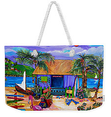 Weekender Tote Bag featuring the painting Cara's Island Time by Patti Schermerhorn