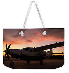 Caravan On The Ramp In The Sunset Weekender Tote Bag