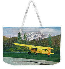 Carbon Cub Riverbank Takeoff Weekender Tote Bag