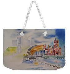 Cardiff Memoir In Watercolor Weekender Tote Bag by Geeta Biswas