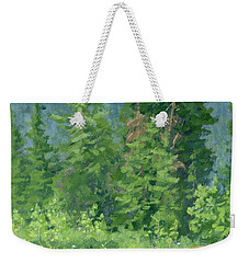 Weekender Tote Bag featuring the painting Cardiff Spring by David King