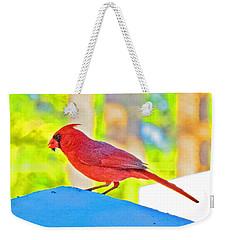 Cardinal Blue Weekender Tote Bag