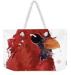Weekender Tote Bag featuring the painting Cardinal by Dawn Derman