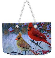 Cardinal Family Weekender Tote Bag