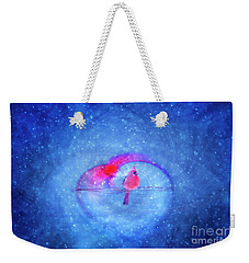 Cardinal In A Heart Weekender Tote Bag
