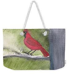Cardinal In My Pine Tree Weekender Tote Bag