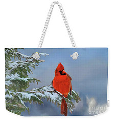 Cardinal In Winter II Weekender Tote Bag