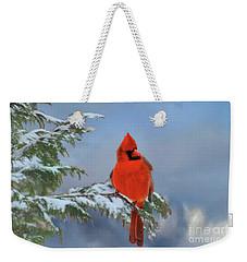 Cardinal In Winter II Weekender Tote Bag