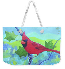 Cardinal On A Branch Weekender Tote Bag