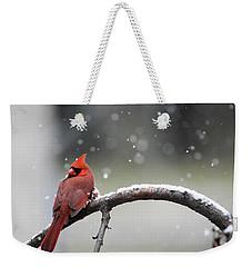Cardinal Snowfall Weekender Tote Bag