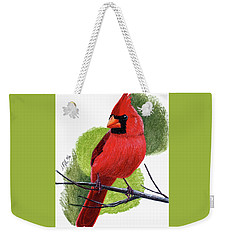 Weekender Tote Bag featuring the painting Cardinal1 by Joseph Ogle