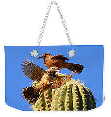 Weekender Tote Bag featuring the photograph Careful Landing by Marilyn Smith