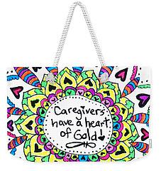 Caregiver Flower Weekender Tote Bag by Carole Brecht