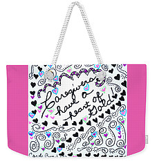 Caregiver Hearts Weekender Tote Bag by Carole Brecht