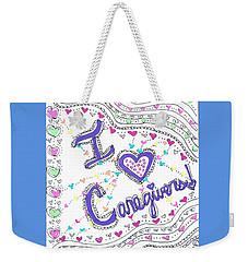 Caring Heart Weekender Tote Bag