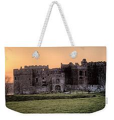 Carew Castle Coral Sunset Weekender Tote Bag
