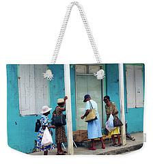 Weekender Tote Bag featuring the photograph Caribbean Blue, Speightstown, Barbados by Kurt Van Wagner