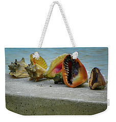 Weekender Tote Bag featuring the photograph Caribbean Charisma by Karen Wiles