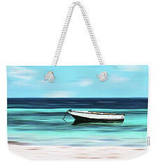 Caribbean Dream Boat Weekender Tote Bag by Deborah Smith