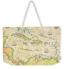Caribbean Map - Good Weekender Tote Bag by Sample