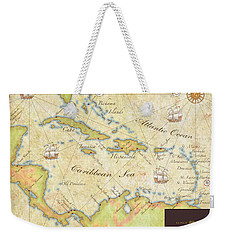 Caribbean Map II Weekender Tote Bag by Unknown