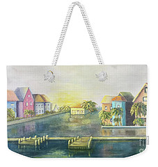 Weekender Tote Bag featuring the painting Caribbean Morning  by Marlene Book