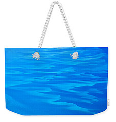 Weekender Tote Bag featuring the photograph Caribbean Ocean Abstract by Jetson Nguyen