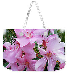 Weekender Tote Bag featuring the photograph Caribbean Oleander by Marie Hicks
