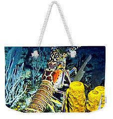 Caribbean Reef Lobster Weekender Tote Bag by Amy McDaniel