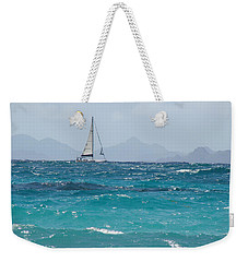 Weekender Tote Bag featuring the photograph Caribbean Sailing by Margaret Bobb