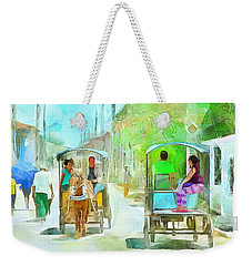 Caribbean Scenes - Carriage Ride Weekender Tote Bag