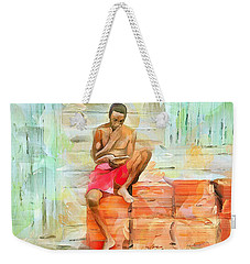 Caribbean Scenes - Diamond In The Rough Weekender Tote Bag