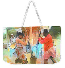 Caribbean Scenes - Mortar And Pestle In De Country Weekender Tote Bag