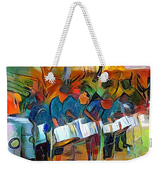 Caribbean Scenes - Steel Band Practice Weekender Tote Bag