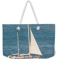 Weekender Tote Bag featuring the photograph Caribbean Scooner by Gary Slawsky
