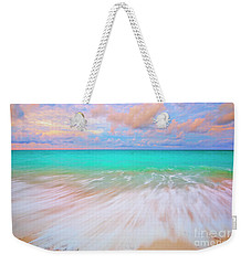 Caribbean Sea At High Tide Weekender Tote Bag by Charline Xia