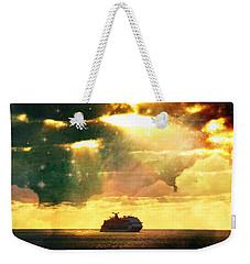 Caribbean Sunset Cloud Art Weekender Tote Bag