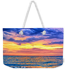 Caribbean Sunset Weekender Tote Bag by Dominic Piperata