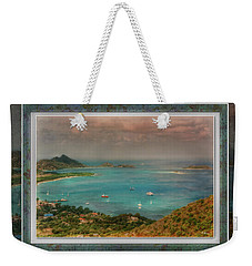 Weekender Tote Bag featuring the digital art Caribbean Symphony by Hanny Heim