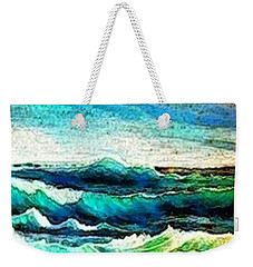 Caribbean Waves Weekender Tote Bag by Holly Martinson