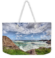 Caribbean Waves Weekender Tote Bag by Nadia Sanowar