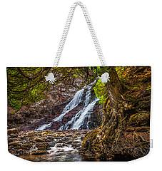 Caribou Falls In Fall Weekender Tote Bag