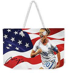 Carli Lloyd Weekender Tote Bag by Taylan Apukovska