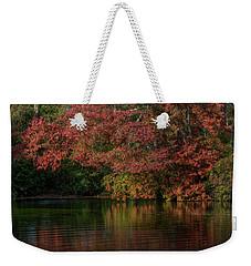 Carmans River, Autumn Weekender Tote Bag by Steve Gravano