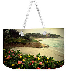Carmel Beach And Iceplant Weekender Tote Bag