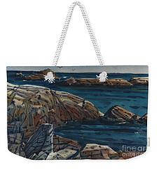 Carmel Beach Rocks Weekender Tote Bag