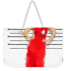 Weekender Tote Bag featuring the digital art Carmela by Nancy Levan