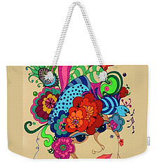 Weekender Tote Bag featuring the painting Carmen by Alison Caltrider