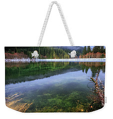 Weekender Tote Bag featuring the photograph Carmen Reservoir by Cat Connor